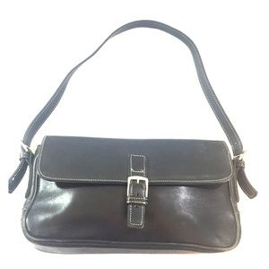 Couch vintage black leather bag